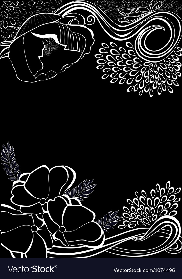 Romantic background with stylized flowers vector image