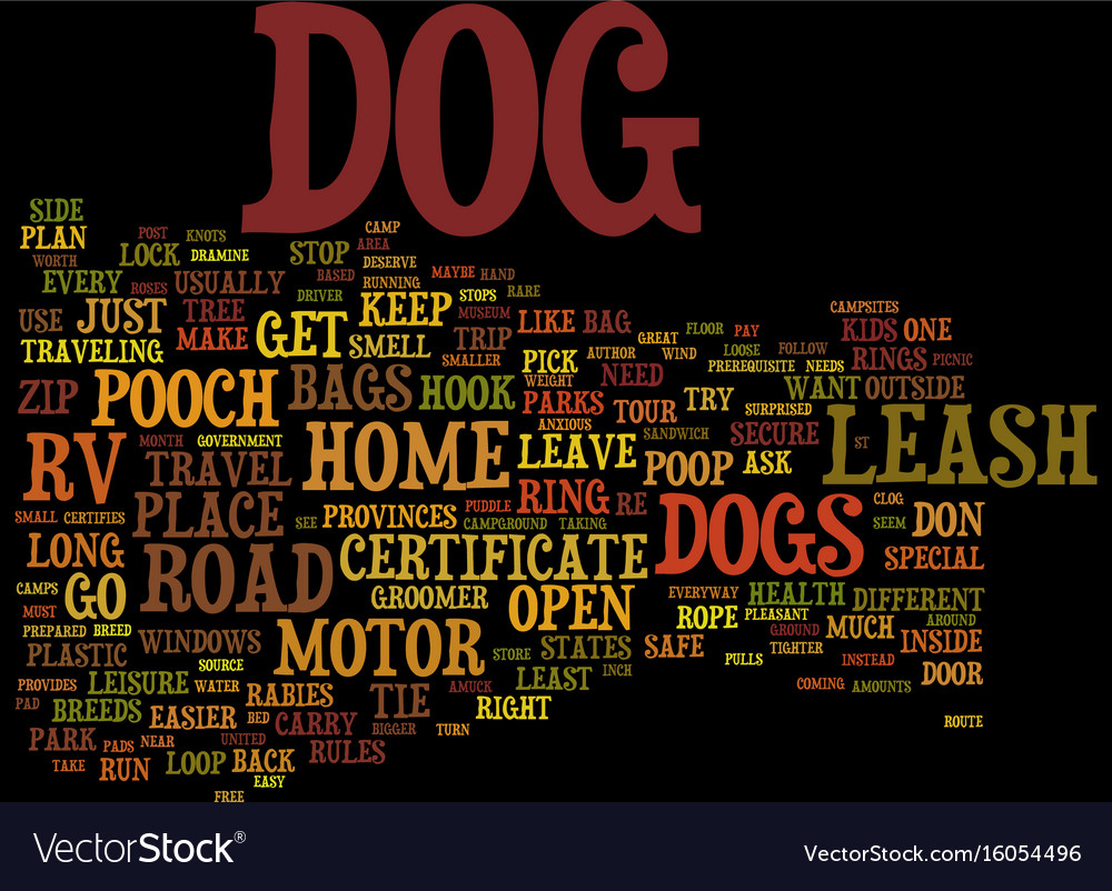 Ten tips for dog owners on the road in a rv text