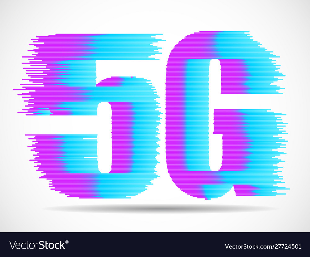 Abstract 5g internet wirelles connection of