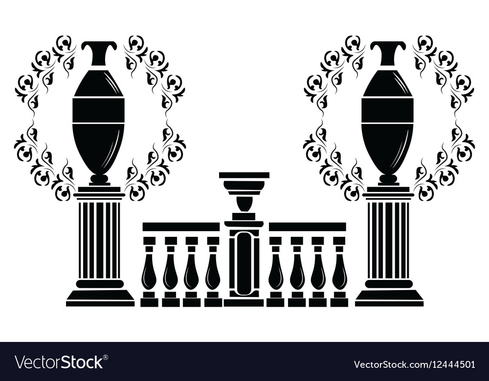Architectural decorative columns vector image