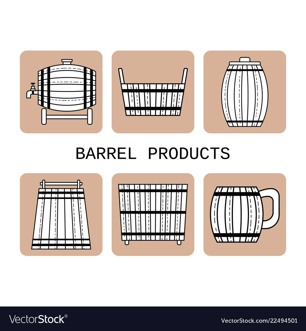 Barrel products flat objects