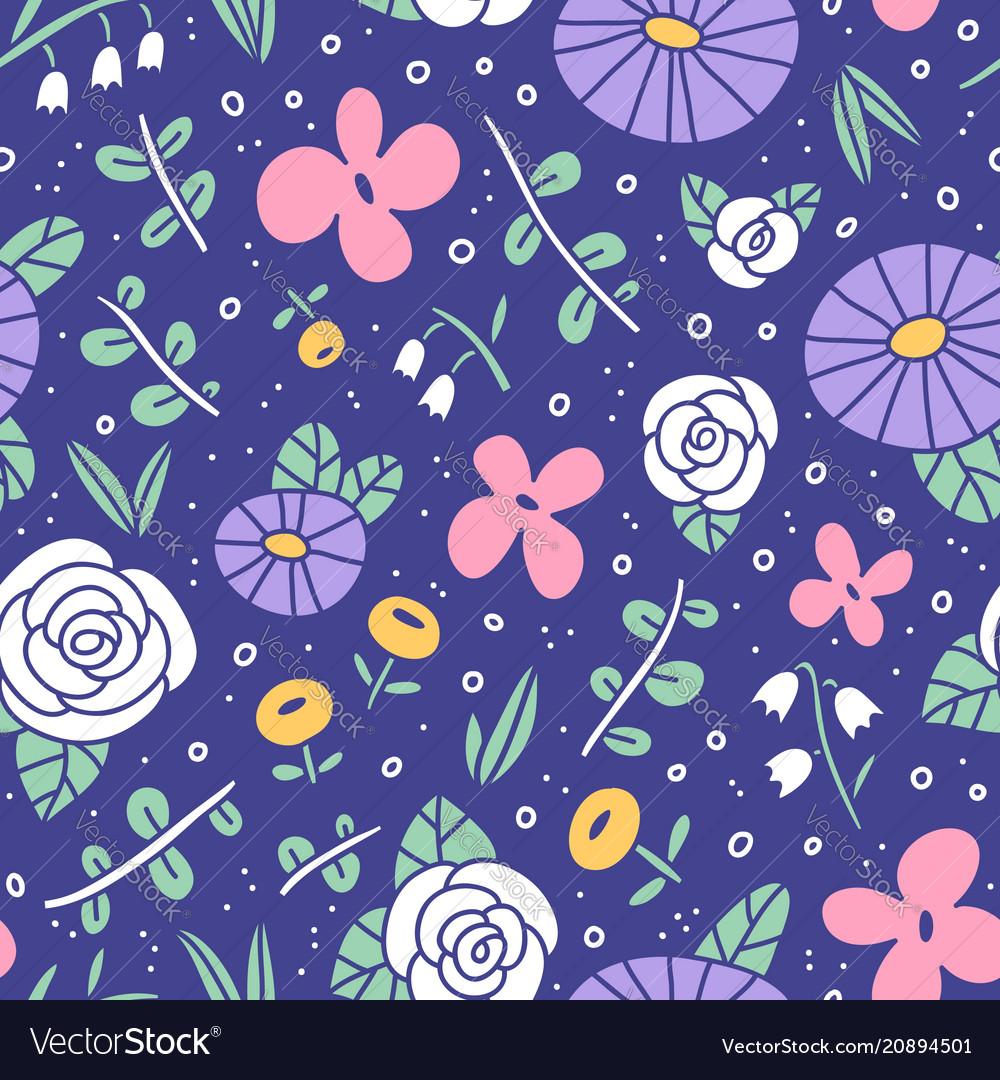 Beautiful flower field pattern