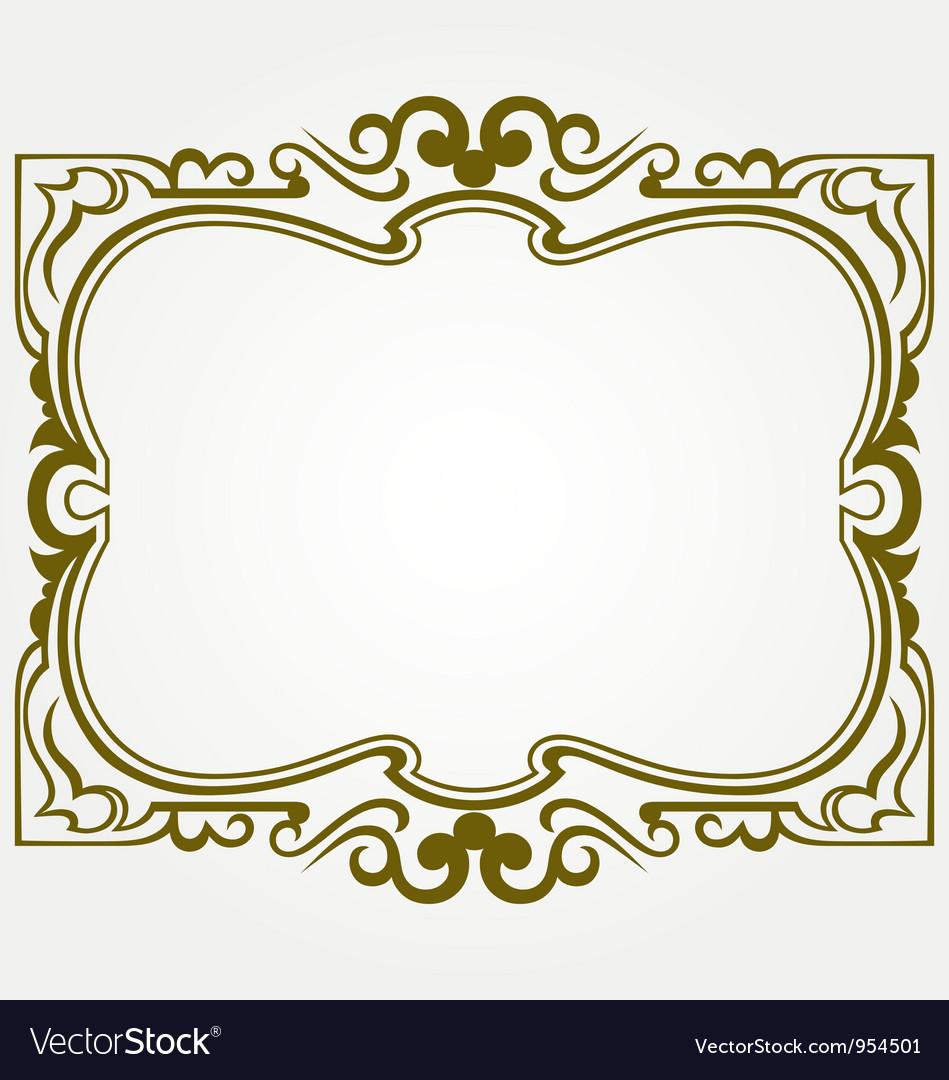 Decorative frames Royalty Free Vector Image - VectorStock