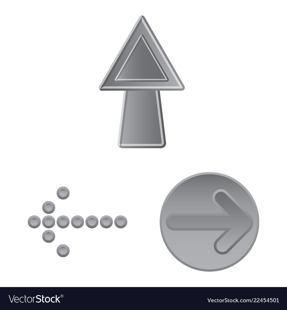 Design of element and arrow icon set of