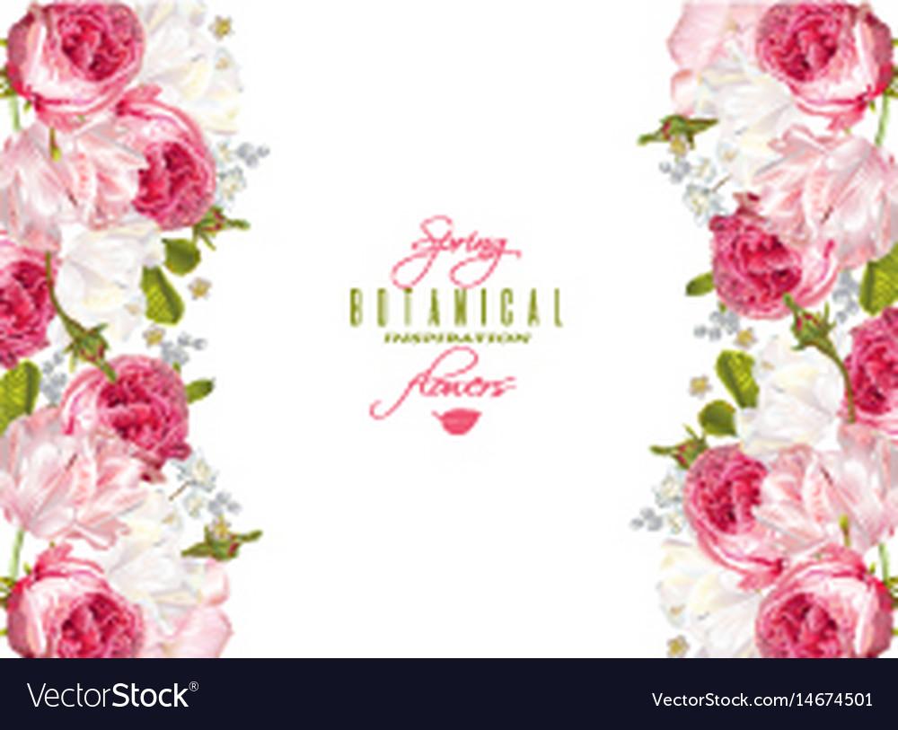 Floral romantic banner