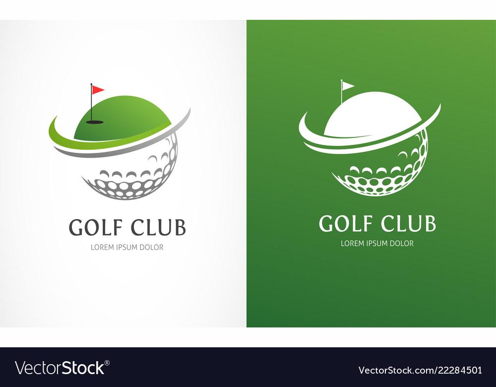 Golf club icons symbols elements and logo