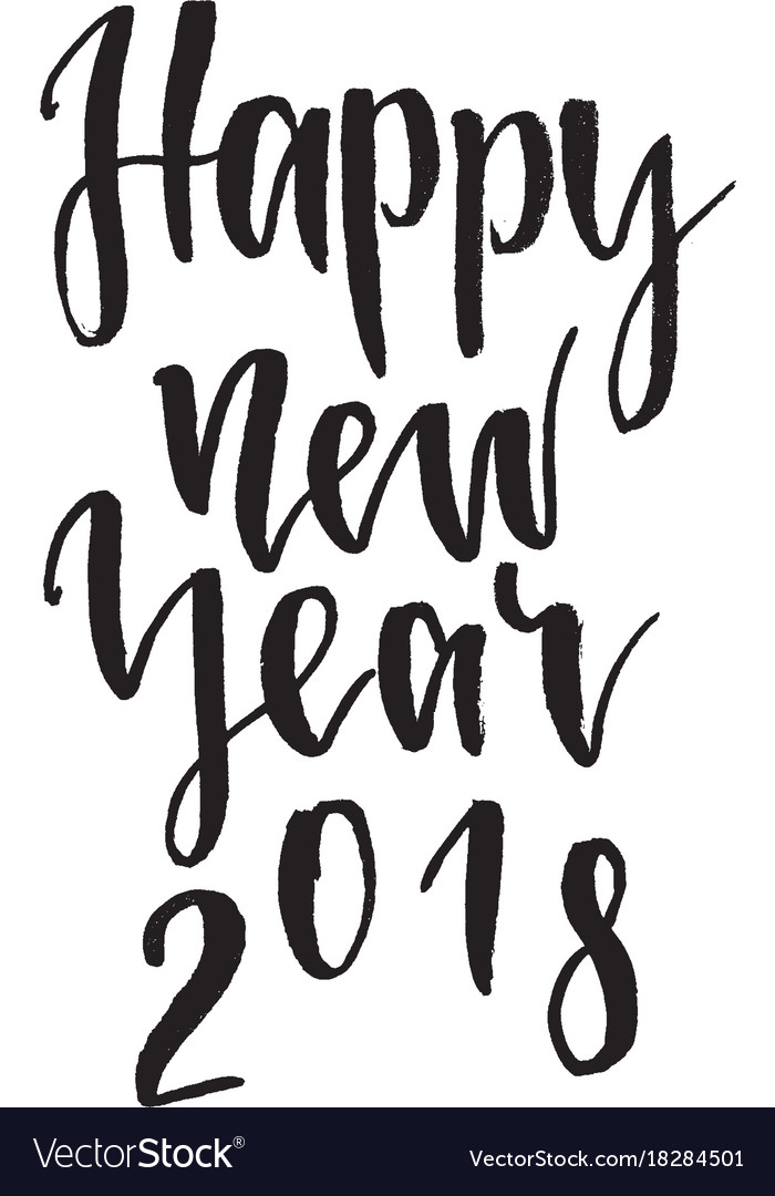 Happy new year 2018 inspirational quote about Vector Image