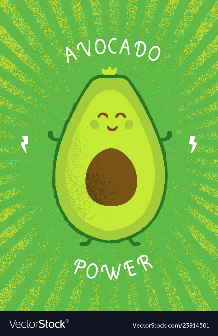 Keto diet avocado power funny creative