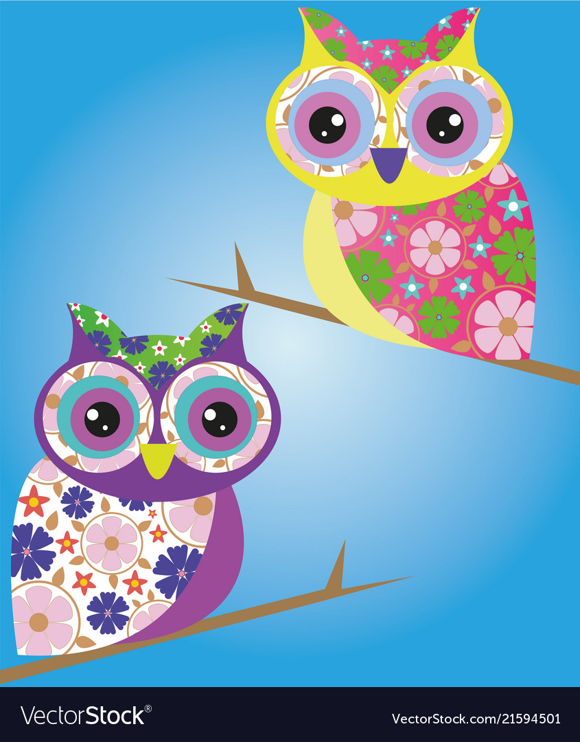 Owl bird wild cartoon