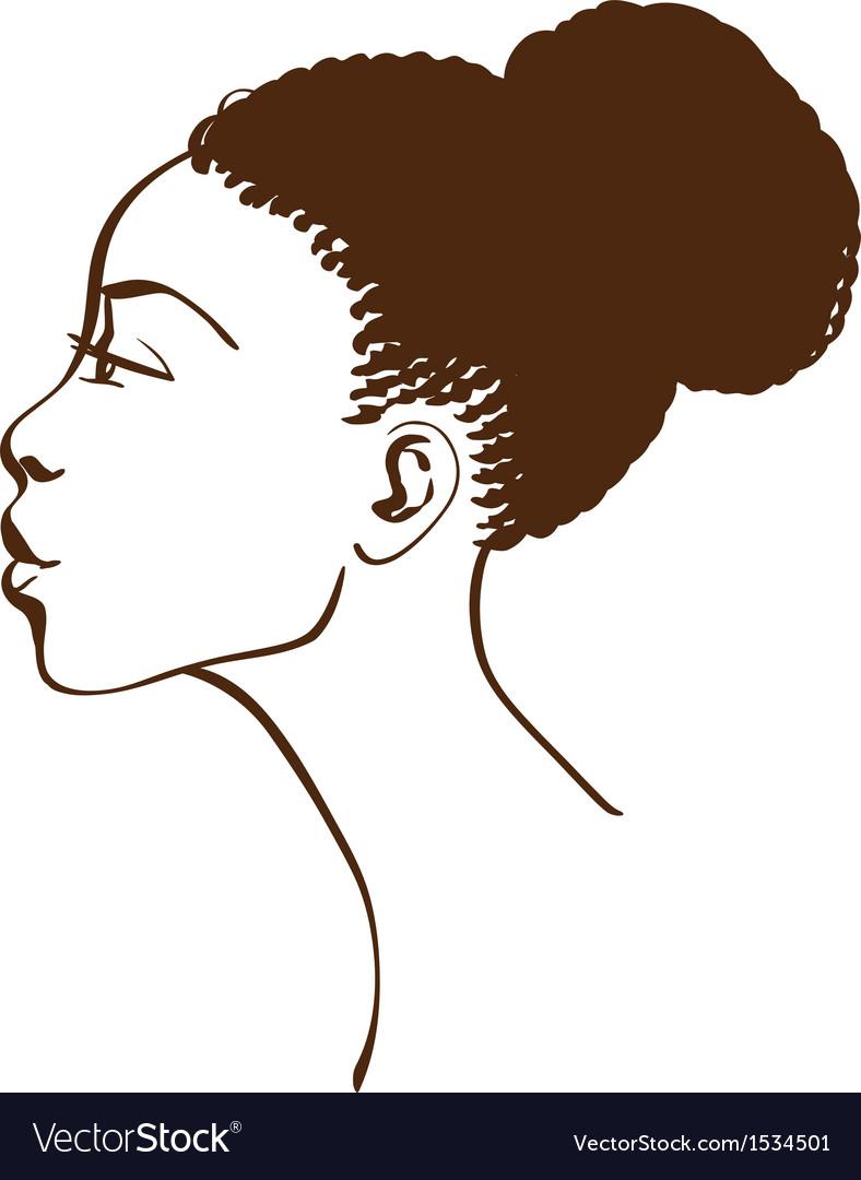Portrait of beautiful woman profile