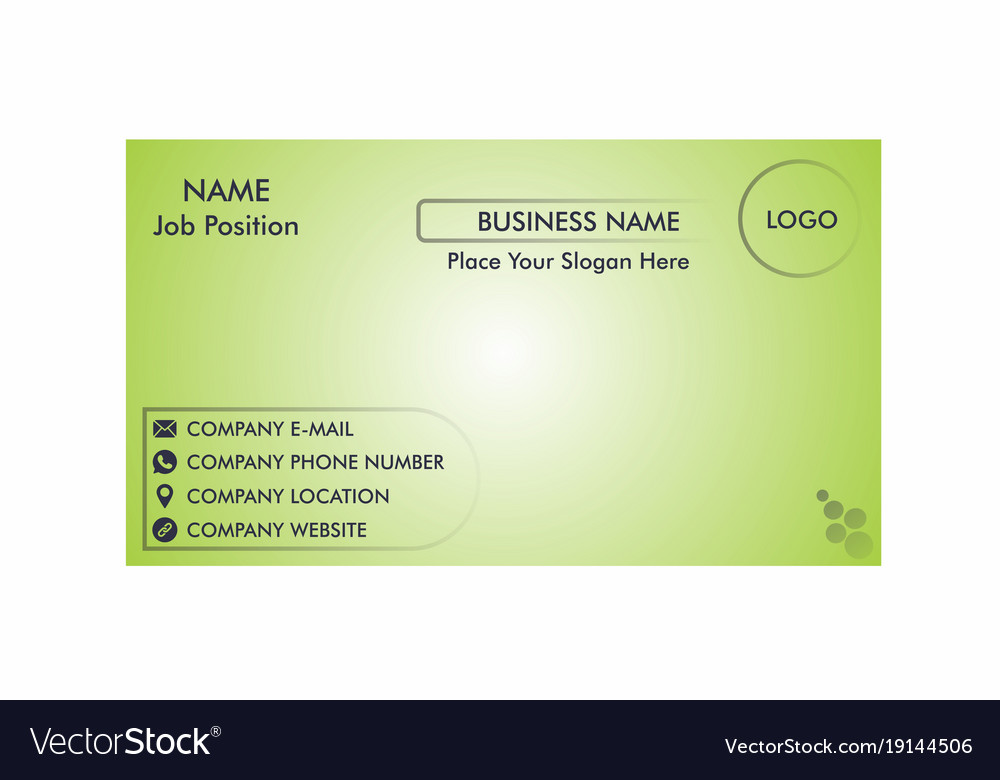 A simple business card one side royalty free vector image a simple business card one side vector image colourmoves