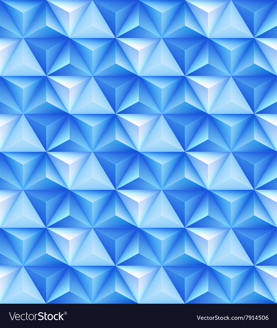 Abstract geometric triangle seamless 3D texture