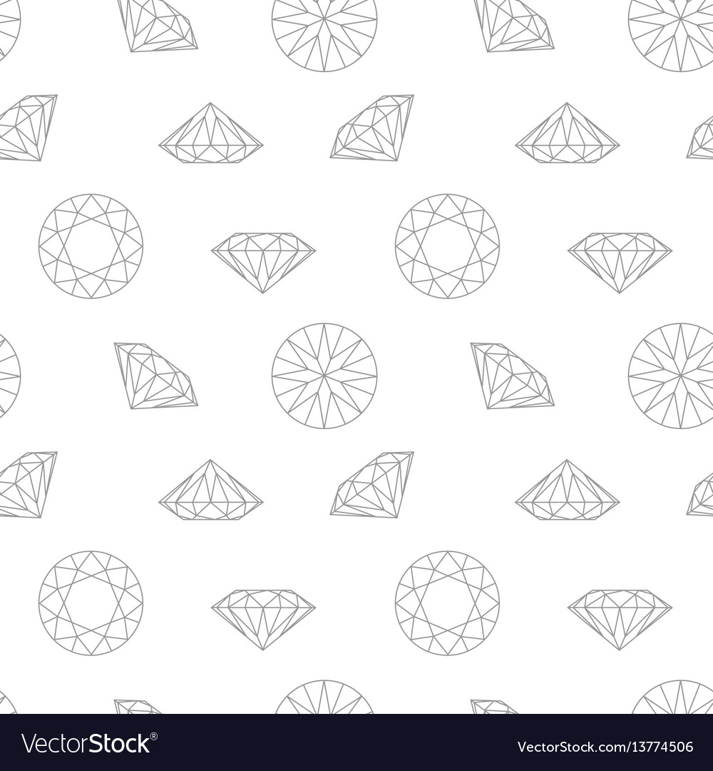 Diamond concept seamless pattern wrapping paper