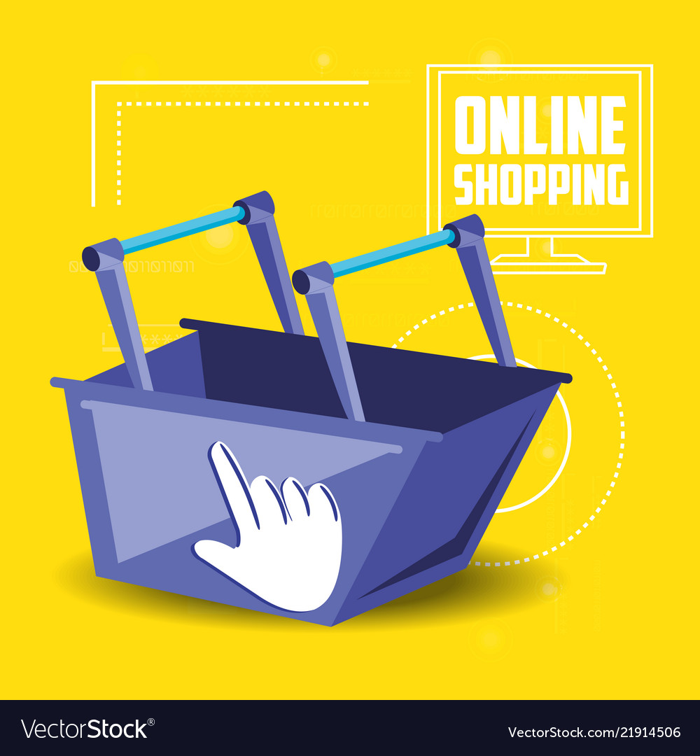 On line shopping with basket add
