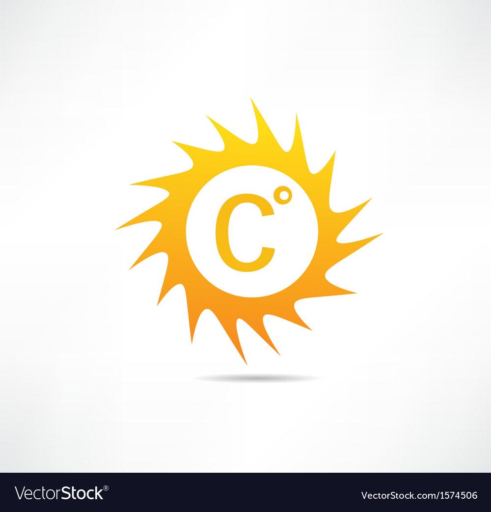 Sun and Celsius mark icon