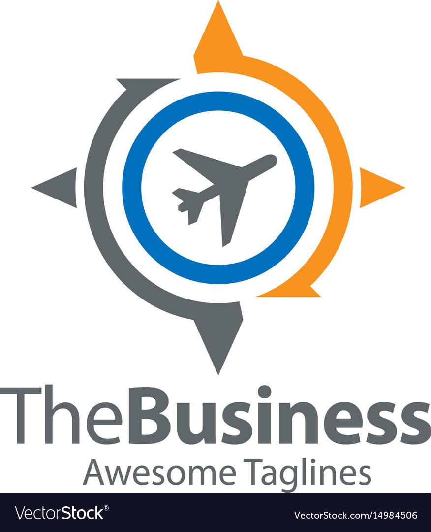 Travel and world trip logo