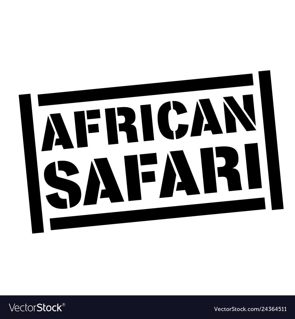African safari stamp on white