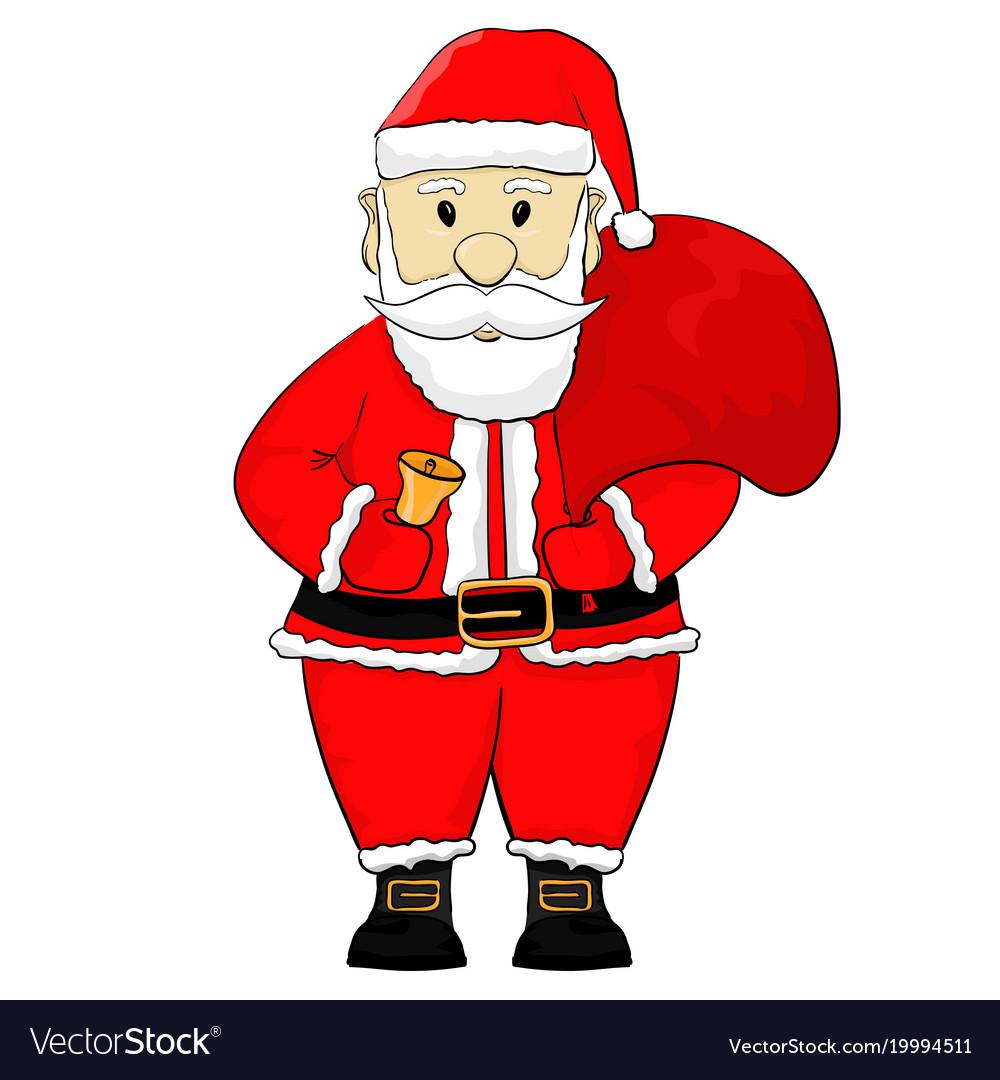Santa Claus Cartoon Hand Drawing