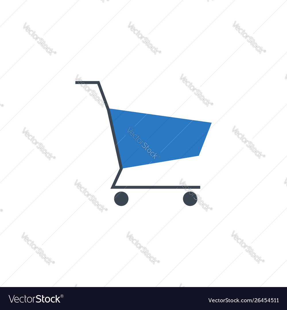 Shopping cart related glyph icon