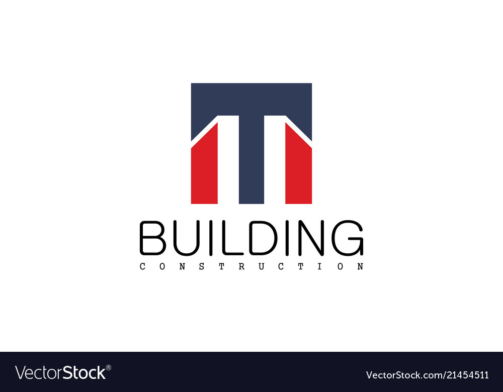 Square letter m building construction logo