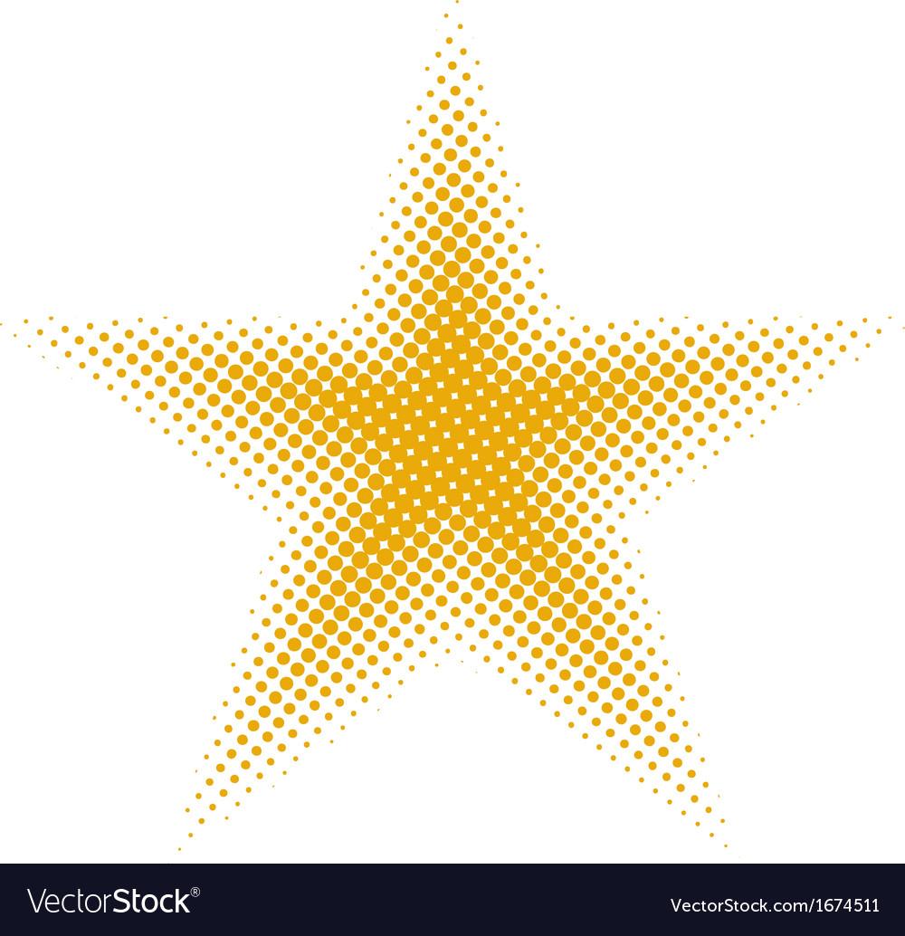 Star halftone vector image