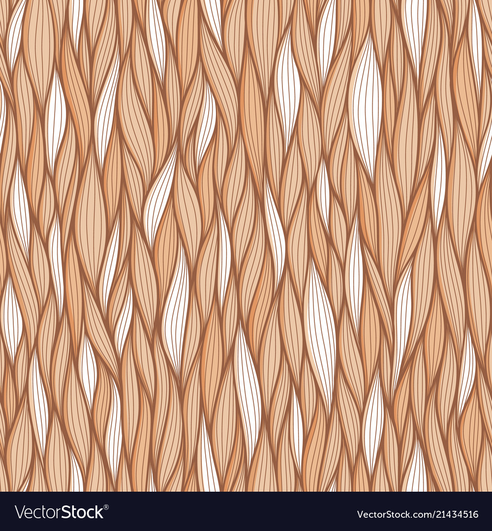 Abstract wavy lines seamless patterns set floral