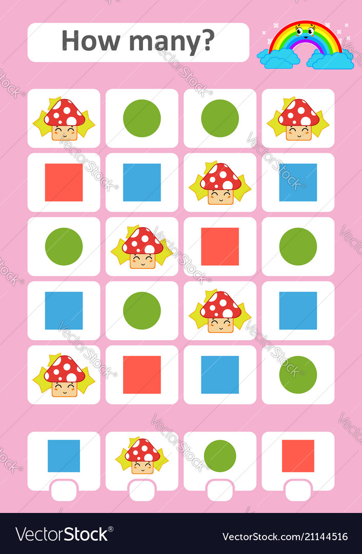 Counting game for preschool children the study of