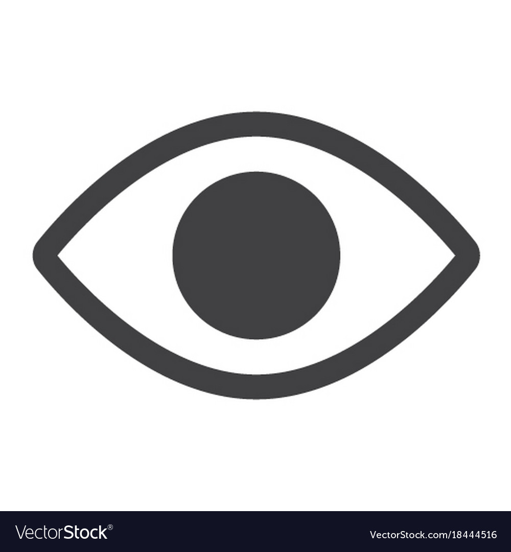 Eye glyph icon web and mobile lens sign