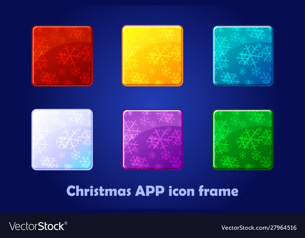 Merry christmas and new year square app icons