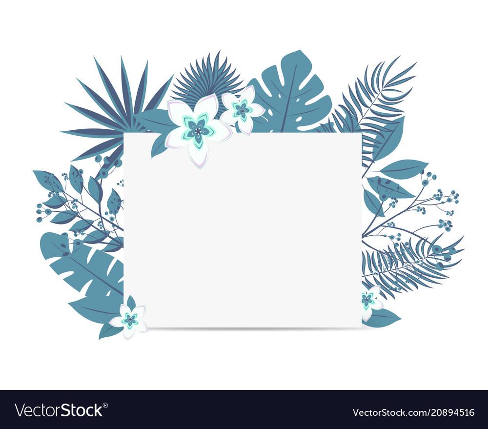 Wedding event invitation card template exotic