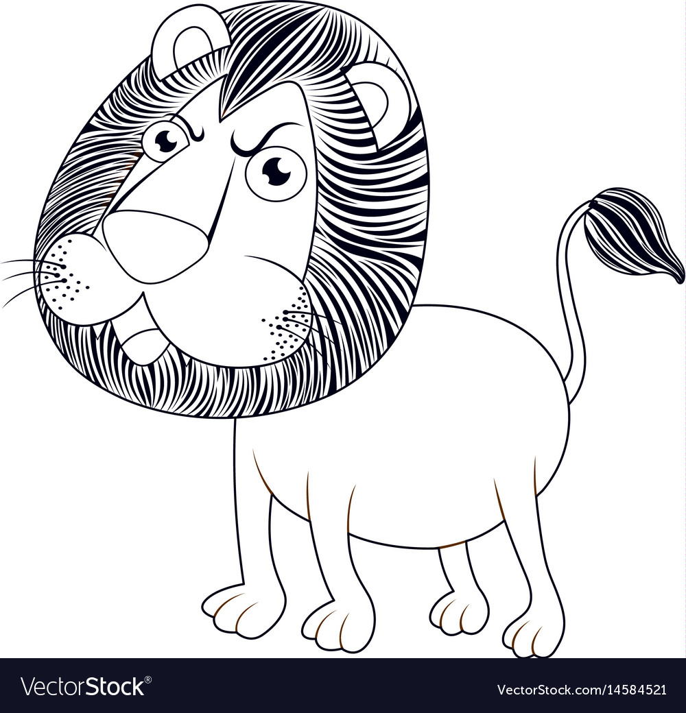 Animal Outline For Lion Royalty Free Vector Image Lion outline png images, lion dog, small outline integrated circuit, black lion, outline, lion head, lion outline cliparts, golden lion png. vectorstock