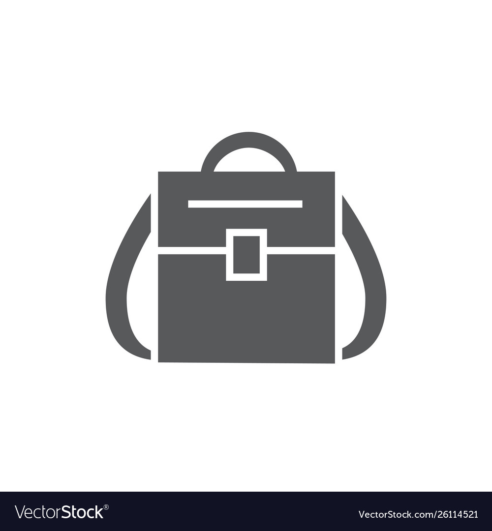 Backpack icon on white background