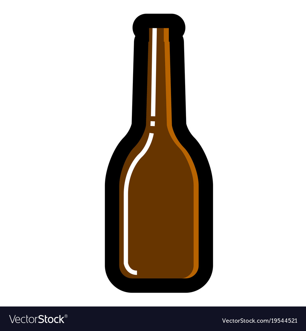 beer bottle icon royalty free vector image vectorstock rh vectorstock com free vector beer bottle silhouette beer bottle vector 3d