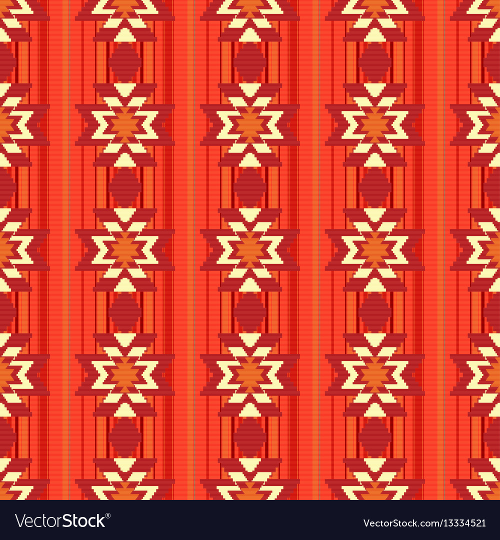 Ethnic ornamental pattern in red