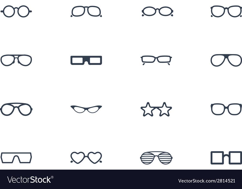 Eye glasses icons