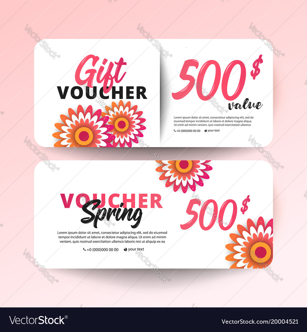 Gift Certificate Coupon Template Royalty Free Vector Image