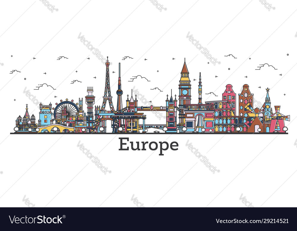 Outline famous landmarks in europe business