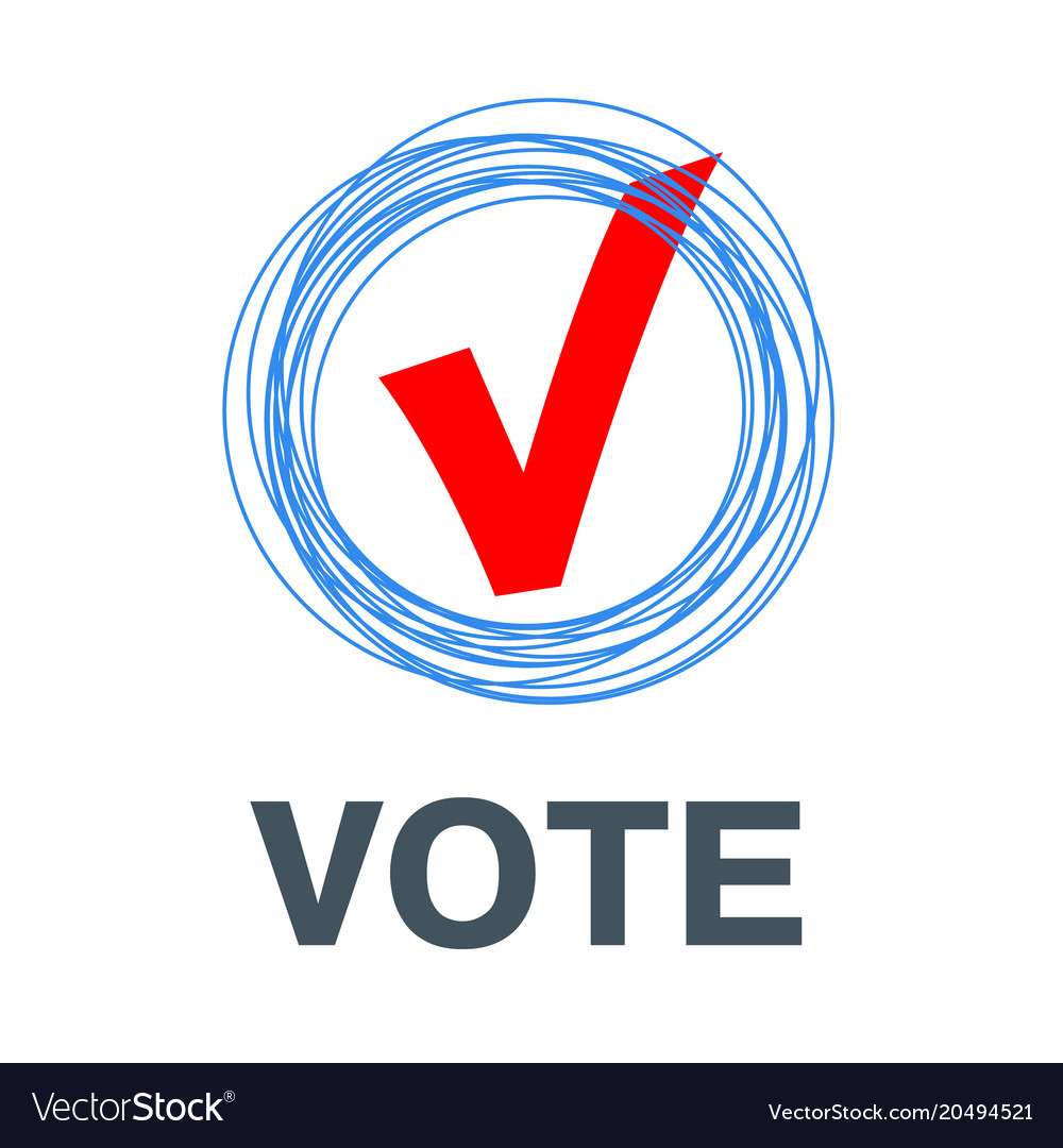 Red vote label poll icon