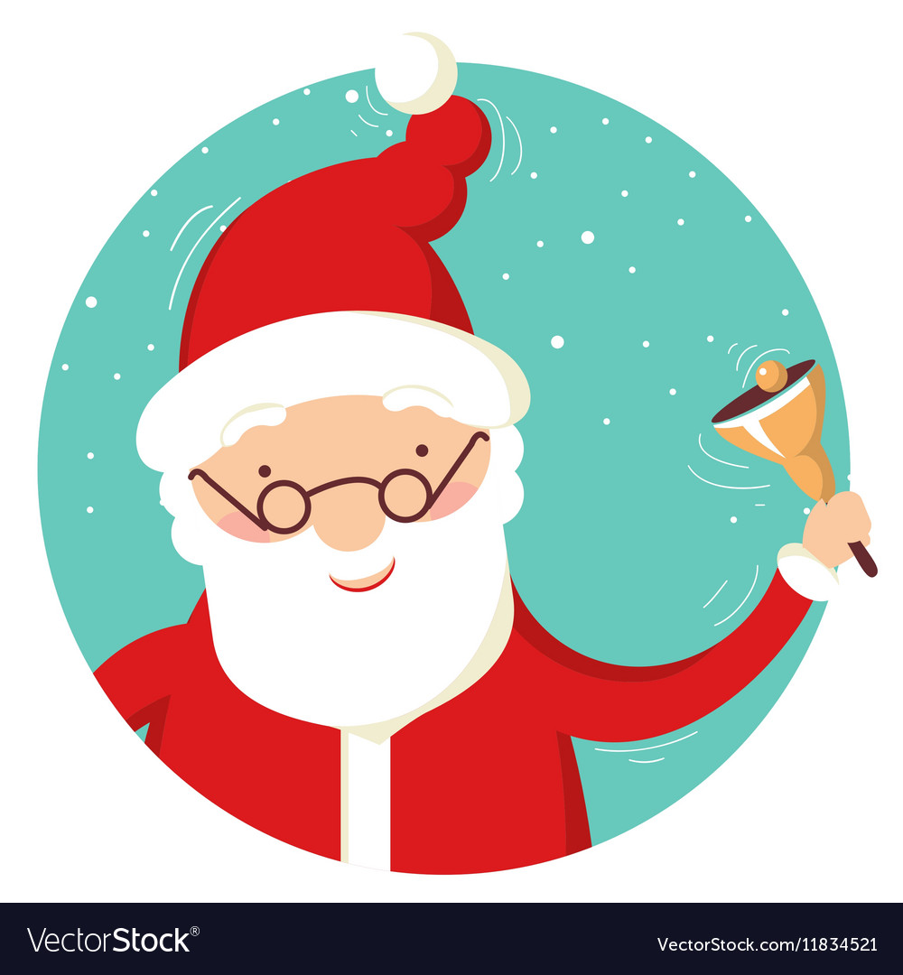 Santa Claus portrait with christmas bell
