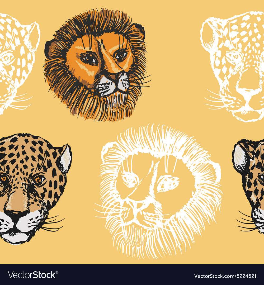 Seamless background with predators