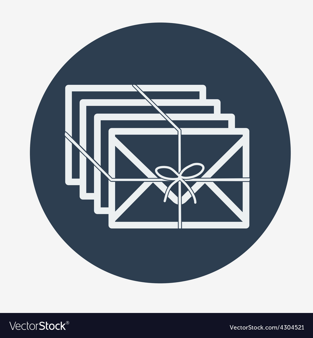 Single flat mail icon vector image