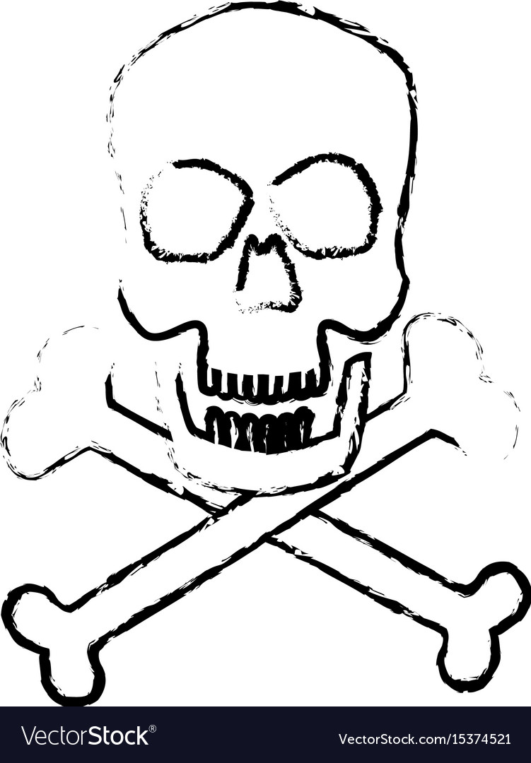 Skull crossed bones danger poison symbol medical