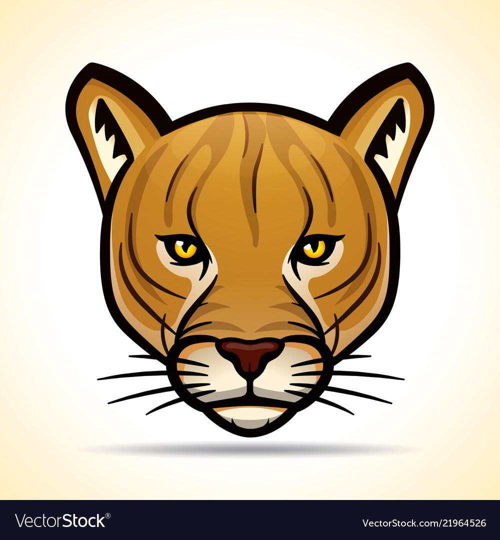 Cougarr head graphic design