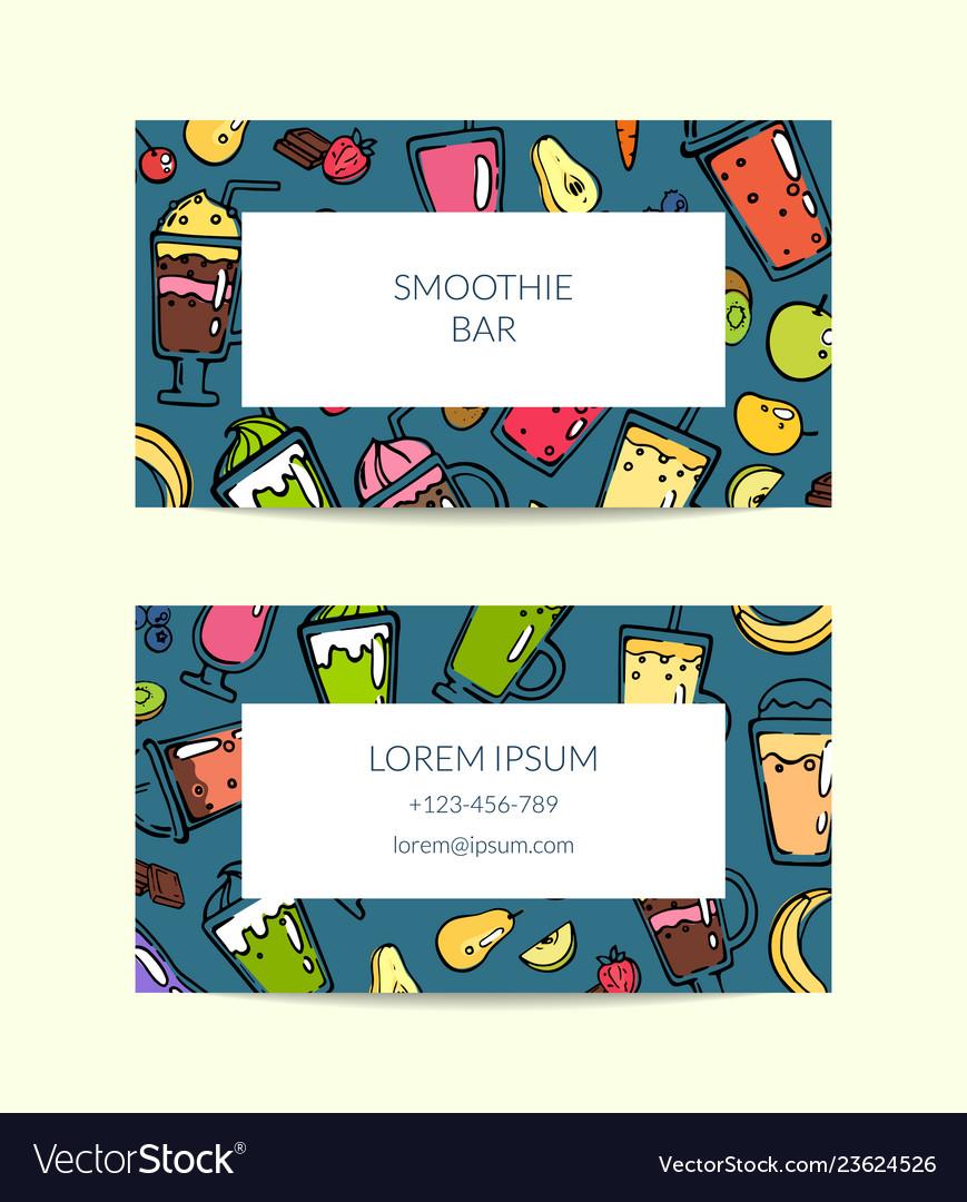 Doodle smoothie for cafe or vegan bar