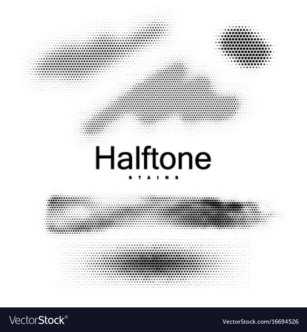 Halfton stains collection