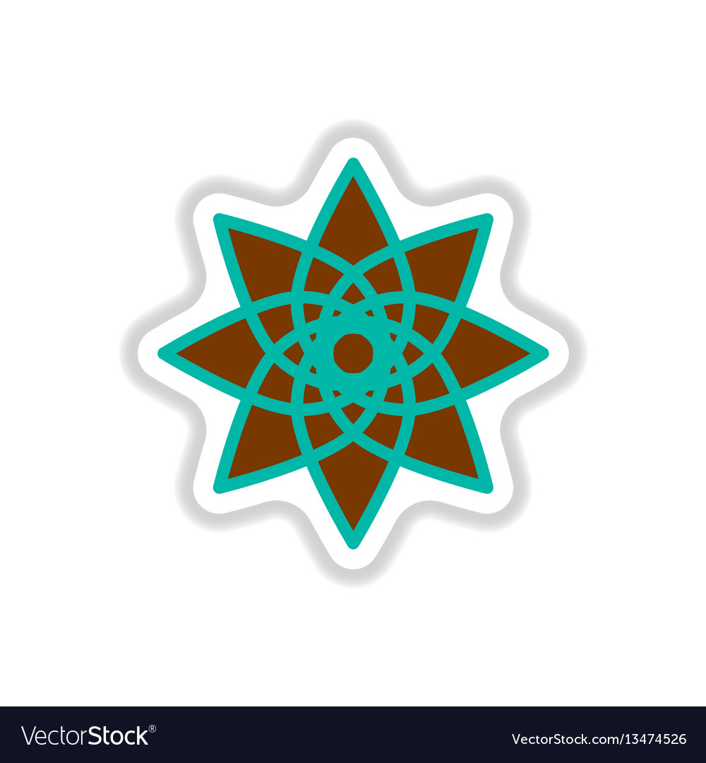 Label icon on design sticker collection arabic vector image