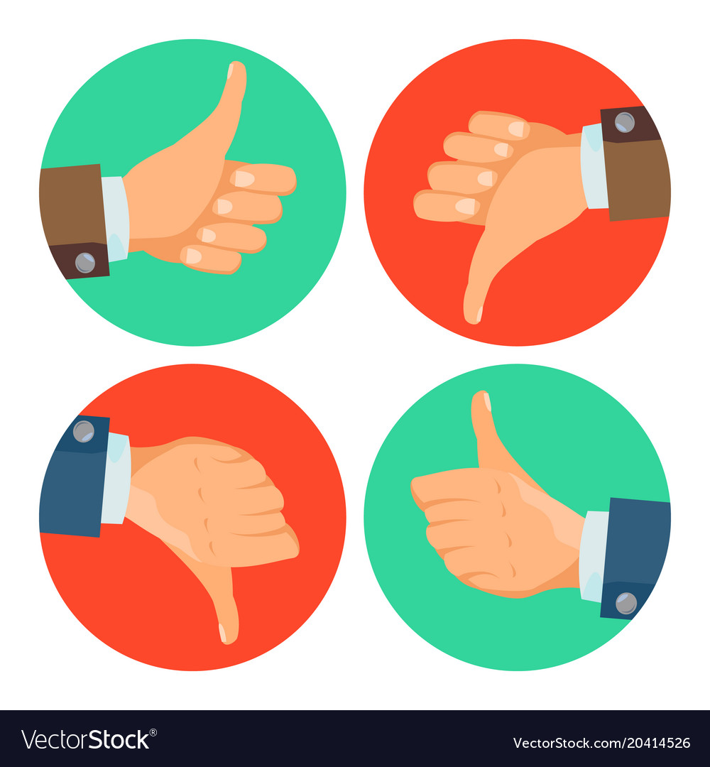 thumbs up down icons business hands royalty free vector rh vectorstock com vector hands holding vector handsaw