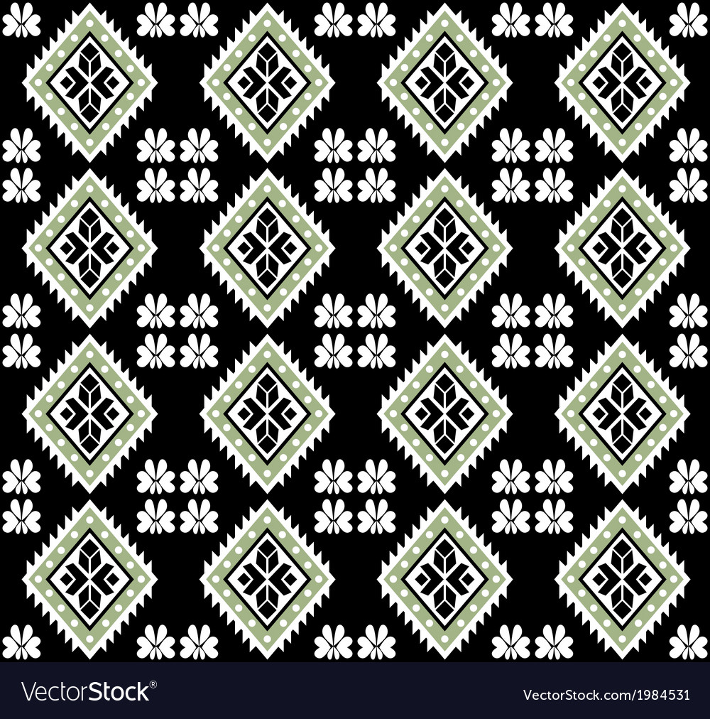 Aztec Monochromatic Seamless Design