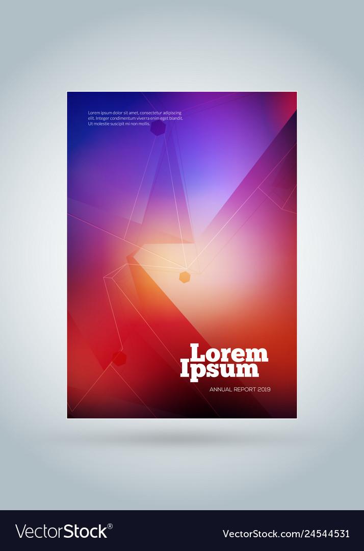 Business brochure cover design template modern