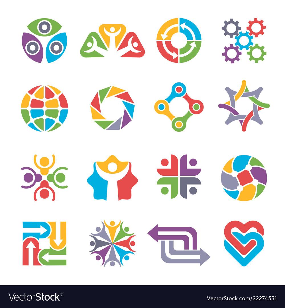 Circle logo shapes community group recycling